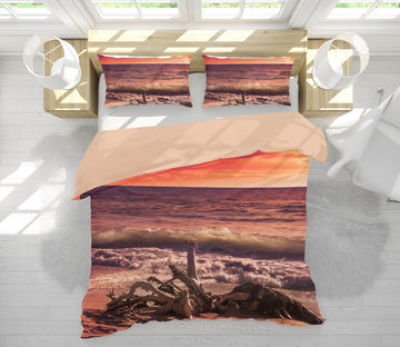 3D Sunset From The Beach 143 Marco Carmassi Bedding Bed Pillowcases Quilt