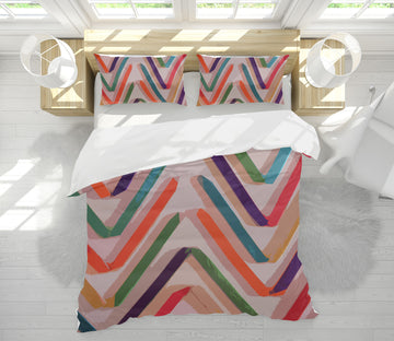 3D Wavy Lines 70191 Shandra Smith Bedding Bed Pillowcases Quilt