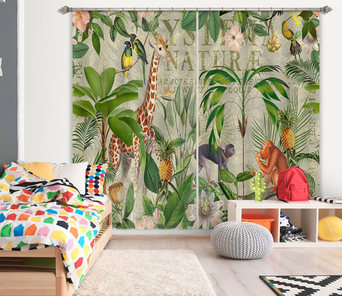 3D Animal Home 080 Andrea haase Curtain Curtains Drapes