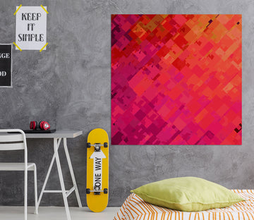 3D Orange Graffiti 006 Shandra Smith Wall Sticker