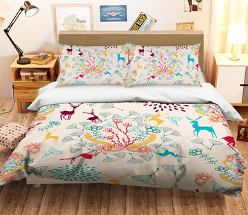 3D Christmas Faceless Deer 23 Bed Pillowcases Quilt Quiet Covers AJ Creativity Home