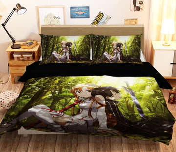 3D Sword Art Online 1244 Anime Bed Pillowcases Quilt