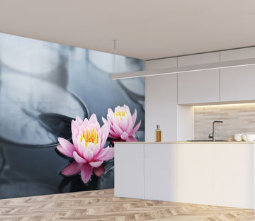 3D Beautiful Lotus 145 Wall Murals Wallpaper AJ Wallpaper 2