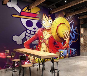 3D Luffy Background Skull 29 Wallpaper AJ Wallpaper 2