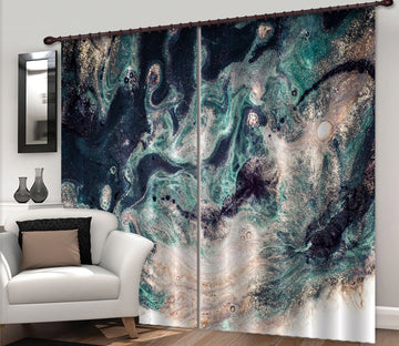 3D Abstract Sand Painting 58 Curtains Drapes Curtains AJ Creativity Home