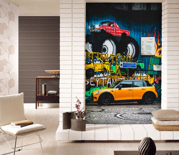3D Automotive Wall 428 Vehicle Wall Murals