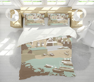 3D Port Isaac 2044 Steve Read Bedding Bed Pillowcases Quilt
