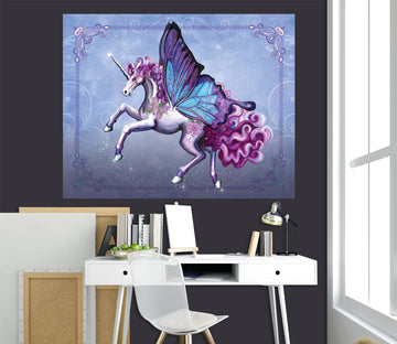 3D Wing Horse 103 Rose Catherine Khan Wall Sticker