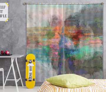 3D Color Graffiti 239 Michael Tienhaara Curtain Curtains Drapes