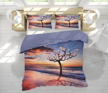 3D Pink Sunset Tree 161 Marco Carmassi Bedding Bed Pillowcases Quilt