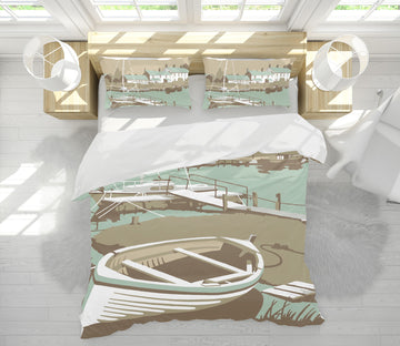 3D Southwold Harbour 2060 Steve Read Bedding Bed Pillowcases Quilt
