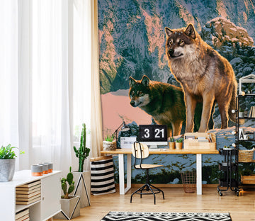 3D Snow Wolf 1572 Wall Murals Exclusive Designer Vincent
