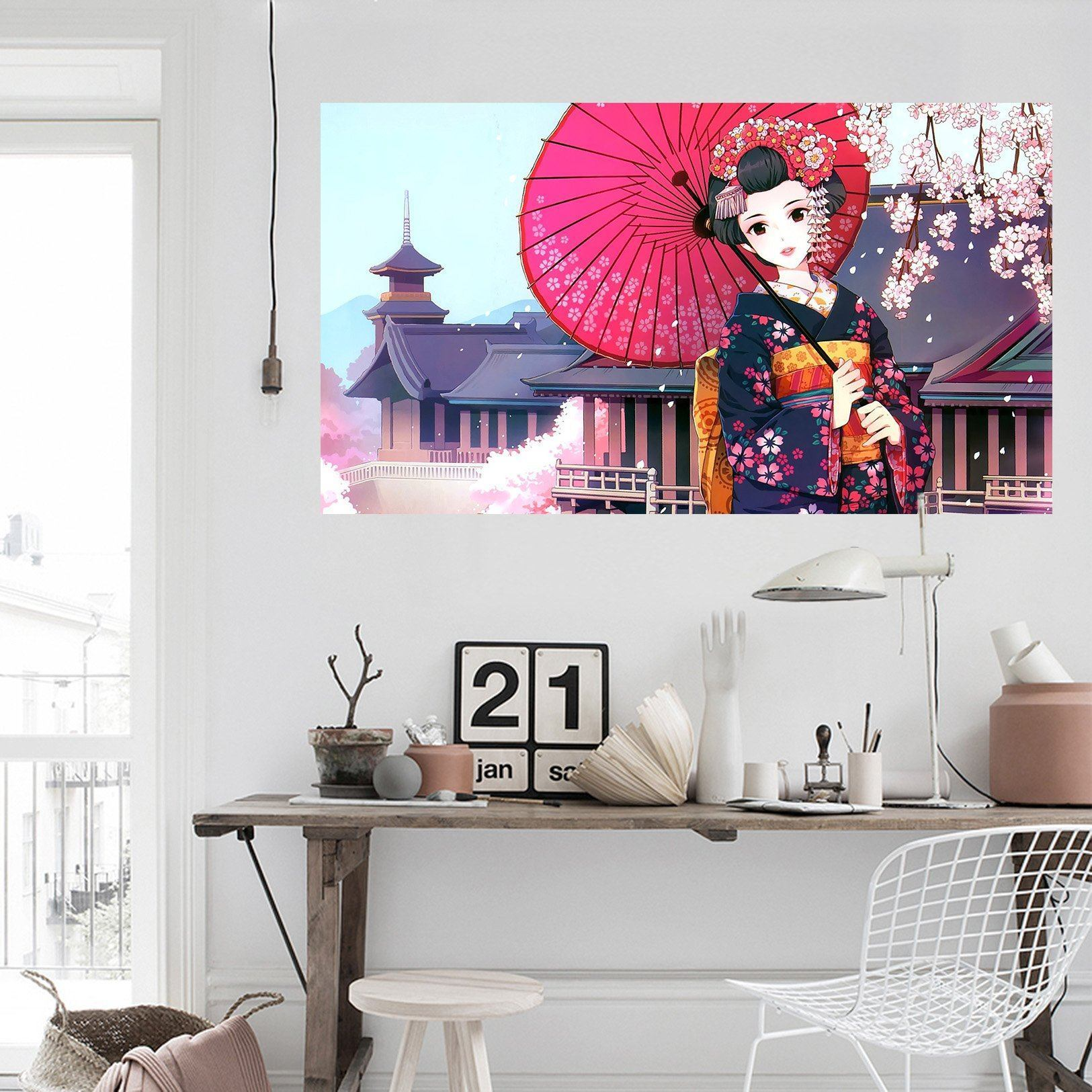 3D Beautiful Girl 432 Anime Wall Stickers Wallpaper AJ Wallpaper 2