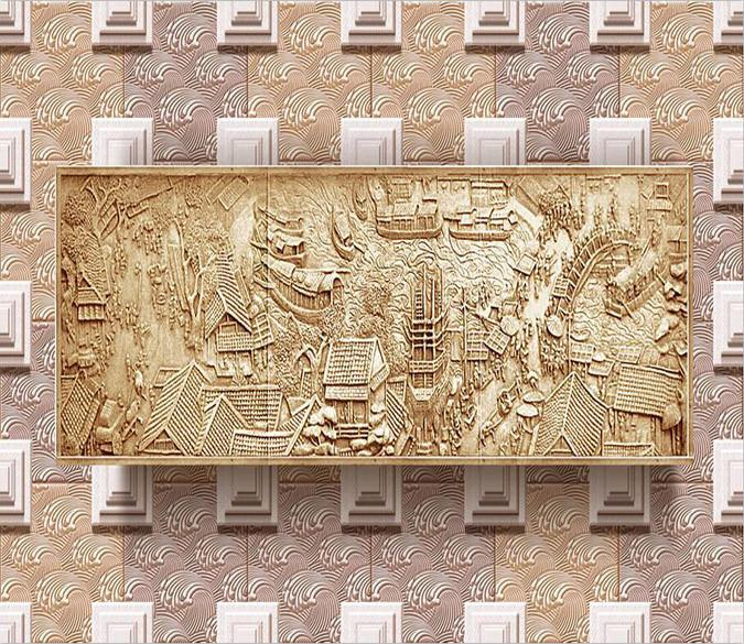 3D Map carving village Wallpaper AJ Wallpaper 1