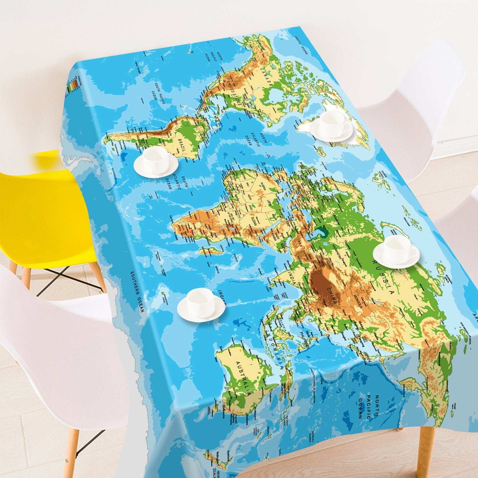3d detailed world map 687 tablecloths aj wallpaper 3d detailed world map 687 tablecloths gumiabroncs Choice Image