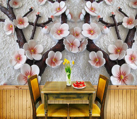3D Flower sculpture tree Wallpaper AJ Wallpaper 1