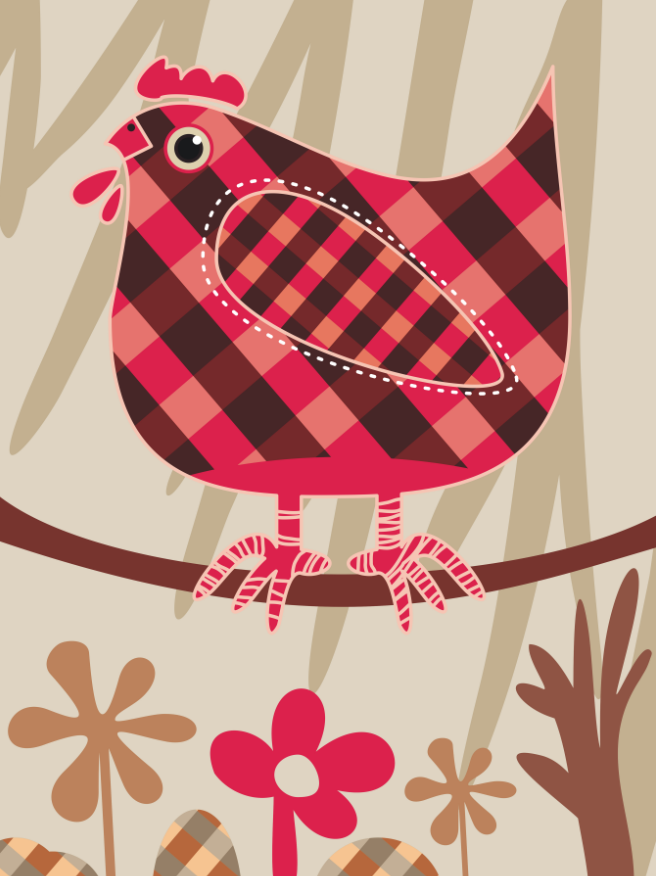 Hen In Branch Wallpaper AJ Wallpaper