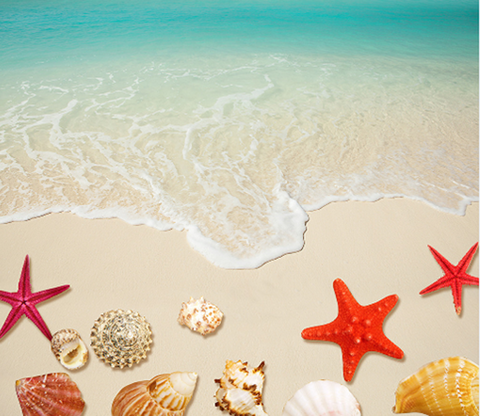 3D Beach Floor Mural Wallpaper AJ Wallpaper 2