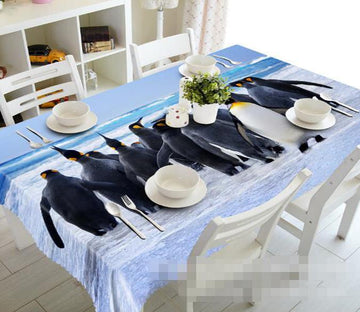 3D Penguins 1253 Tablecloths Wallpaper AJ Wallpaper