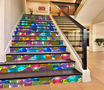 3D Bright Color Pattern 419 Stair Risers Wallpaper AJ Wallpaper