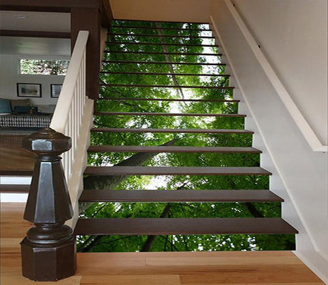 3D Forest Tall Trees 1554 Stair Risers