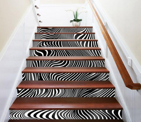 3D Fluctuating Stripes 1301 Stair Risers