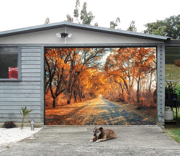 3D Autumn Roadside Trees 119 Garage Door Mural Wallpaper AJ Wallpaper