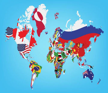 Flag World Map 1 Wallpaper AJ Wallpaper