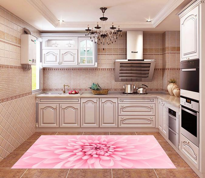 3D Pretty Pink Flower 523 Kitchen Mat Floor Mural Wallpaper AJ Wallpaper
