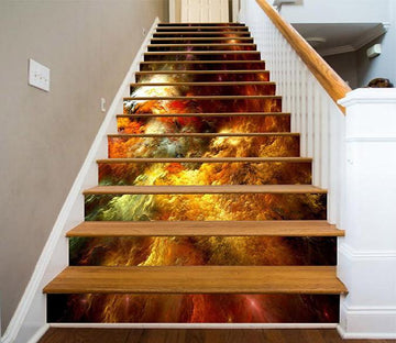 3D Pretty Colorful Clouds 1446 Stair Risers Wallpaper AJ Wallpaper