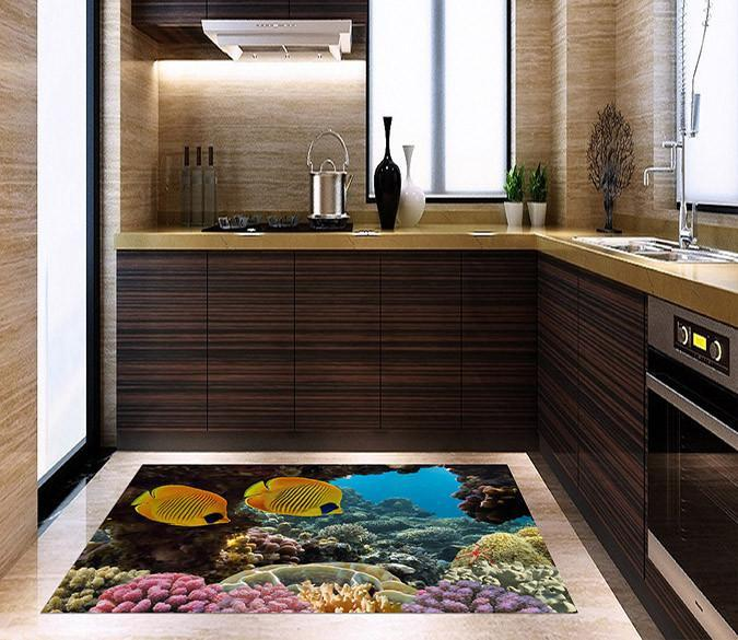 3D Magic Ocean World Kitchen Mat Floor Mural Wallpaper AJ Wallpaper