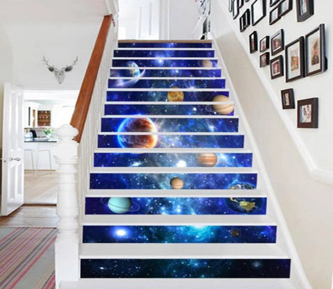3D Brilliant Space 687 Stair Risers