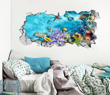 3D Bright Seabed 173 Broken Wall Murals Wallpaper AJ Wallpaper