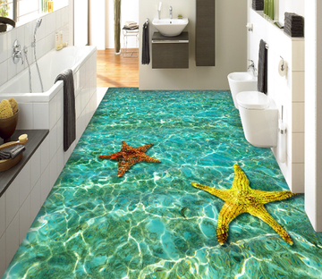 3D Sea Starfishes Floor Mural Wallpaper AJ Wallpaper 2