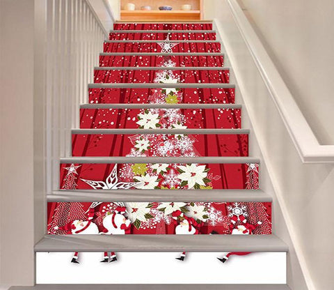 3D Christmas Tree 1538 Stair Risers