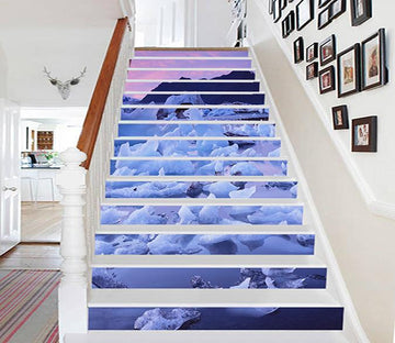 3D Seaside Ice 1257 Stair Risers Wallpaper AJ Wallpaper