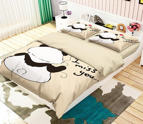 3D Cartoon Animal 309 Bed Pillowcases Quilt Wallpaper AJ Wallpaper