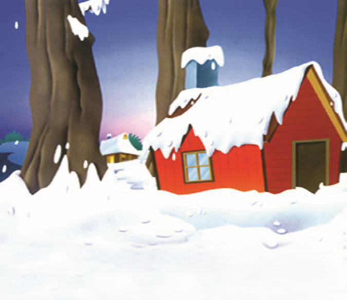 Snowcapped Cottage Wallpaper AJ Wallpaper