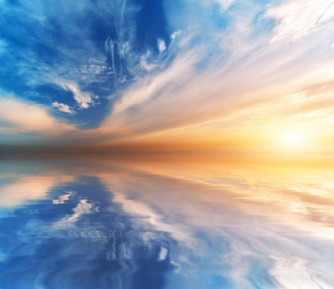Sea Melted Into Sky Wallpaper AJ Wallpaper