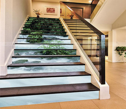 3D Abundant River 902 Stair Risers Wallpaper AJ Wallpaper