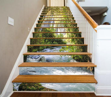 3D Riverside Green Vine 731 Stair Risers Wallpaper AJ Wallpaper