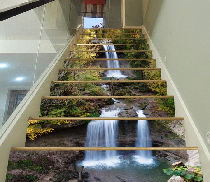3D Jumping River Scenery 92 Stair Risers Wallpaper AJ Wallpaper