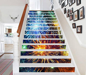 3D Beautiful Fireworks 882 Stair Risers Wallpaper AJ Wallpaper