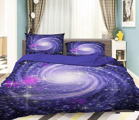 3D Rotating Nebula Stars 352 Bed Pillowcases Quilt