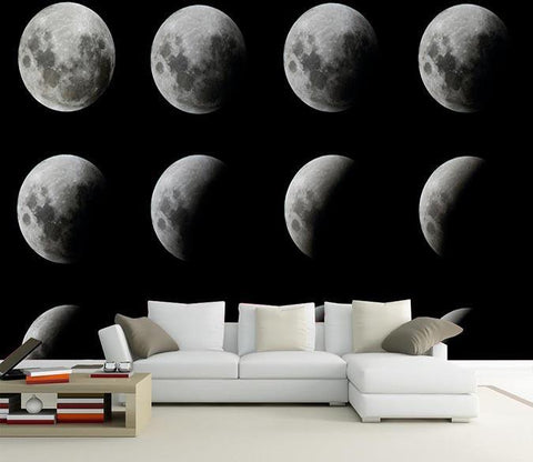 3D Row Of Moons 587 Wallpaper AJ Wallpaper