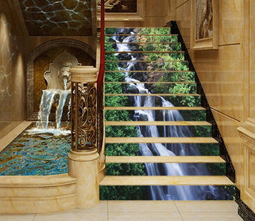 3D Pretty Creek 1609 Stair Risers Wallpaper AJ Wallpaper
