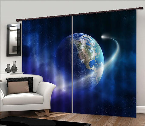 3D Space Earth 2275 Curtains Drapes Wallpaper AJ Wallpaper