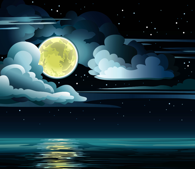 Full Moon Night Wallpaper AJ Wallpaper