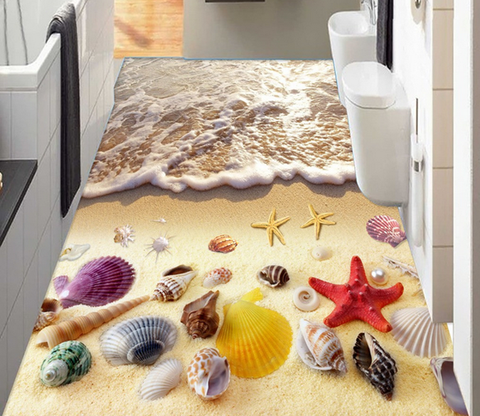 3D Beach Beautiful Treasures Floor Mural Wallpaper AJ Wallpaper 2