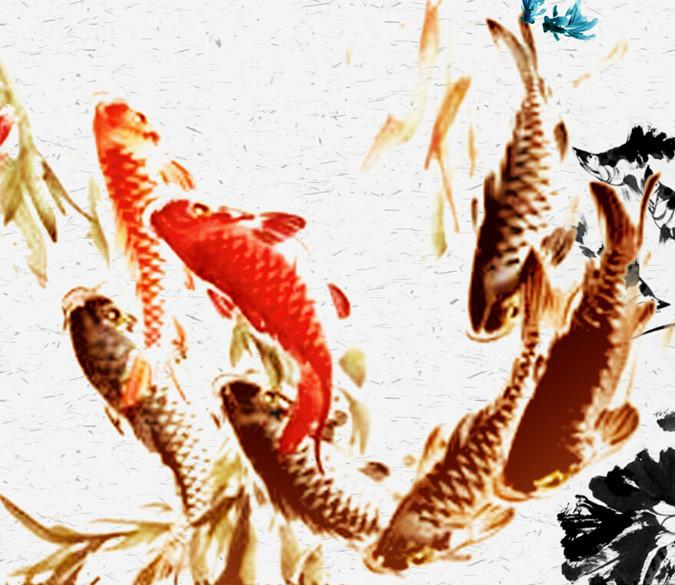 Fishes Painting 1 Wallpaper AJ Wallpaper